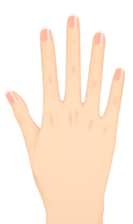 女性向けネイルデザインアプリ(スマフォアプリ)で使用する爪