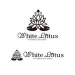 UnizonD1031さんの新規開店のベトナム料理専門店 「White Lotus」のロゴへの提案
