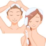 kozumiさんの30代女性と30代男性がシャンプーをしているイラスト(計2点)への提案