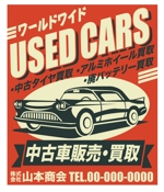 HideakiYoshimotoさんの新規開業する中古車販売店の看板デザインへの提案