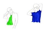 inamixxx7さんの30代女性と30代男性がシャンプーをしているイラスト(計2点)への提案