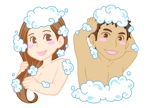 BSUKEさんの30代女性と30代男性がシャンプーをしているイラスト(計2点)への提案