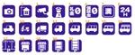 駐車場検索サイトのアイコン(ピクトグラム)21個への提案