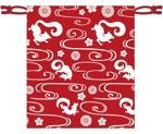 fuzifuziさんの狐をモチーフとした、お面を入れるための巾着袋のデザインへの提案