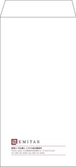 kuma-booさんの税理士・司法書士事務所の封筒のデザイン(長3と角2)への提案