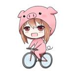 「豚」&「萌え」&「自転車」をイメージしたキャラクターデザインへの提案