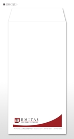 u-ko-designさんの税理士・司法書士事務所の封筒のデザイン(長3と角2)への提案