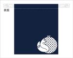 tomo_acuさんの狐をモチーフとした、お面を入れるための巾着袋のデザインへの提案