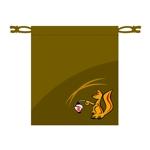kiara_rpmさんの狐をモチーフとした、お面を入れるための巾着袋のデザインへの提案