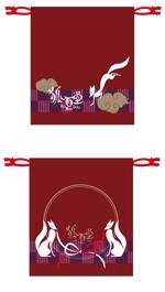 midgetfuseさんの狐をモチーフとした、お面を入れるための巾着袋のデザインへの提案