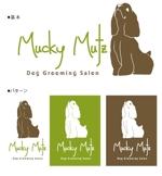 muramotoさんのドッグ トリミングサロン 『Mucky Mutz Dog Grooming』の ロゴへの提案