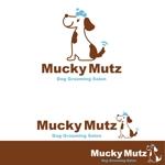 oo_designさんのドッグ トリミングサロン 『Mucky Mutz Dog Grooming』の ロゴへの提案