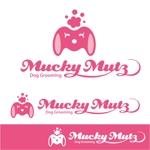 sazukiさんのドッグ トリミングサロン 『Mucky Mutz Dog Grooming』の ロゴへの提案