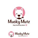 octoさんのドッグ トリミングサロン 『Mucky Mutz Dog Grooming』の ロゴへの提案