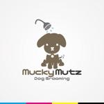 iwwDESIGNさんのドッグ トリミングサロン 『Mucky Mutz Dog Grooming』の ロゴへの提案