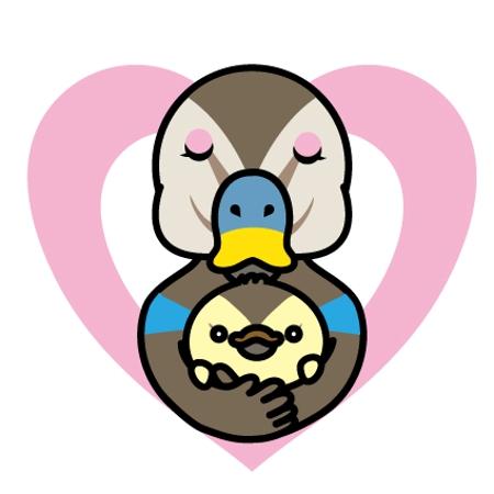 Hakkaさんの事例 実績 提案 急募 カルガモがひな鳥を抱いているpopなイラスト はじめまして イラス クラウドソーシング ランサーズ