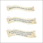 写真、ポストカードなどに挿入するデザイン英文ロゴの作成への提案