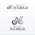 works_graphicさんの楽天Shop Music Shop たておんぷ のロゴマークへの提案