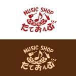 WallabyGamesさんの楽天Shop Music Shop たておんぷ のロゴマークへの提案