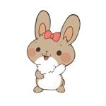 kana_26さんのうさぎ又はひつじのキャラクターデザインへの提案