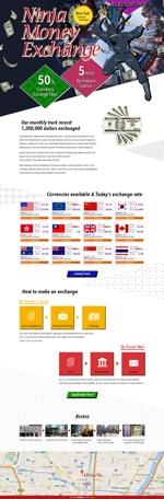 外国人向け外貨両替ホームページ Ninja Money Exchage のデザインへの提案
