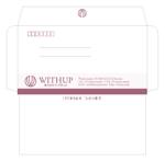 505050さんの女性社長コンサルティング会社のシンプルで誠実感のある角2、窓無し洋0封筒デザイン(ロゴあり)への提案