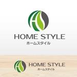 北大阪を中心に 不動産業と建築業と飲食をやっているホームスタイル株のロゴへの提案