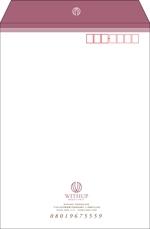 kazuemさんの女性社長コンサルティング会社のシンプルで誠実感のある角2、窓無し洋0封筒デザイン(ロゴあり)への提案