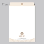 house_1122さんの女性社長コンサルティング会社のシンプルで誠実感のある角2、窓無し洋0封筒デザイン(ロゴあり)への提案