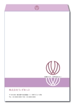 yaruzouさんの女性社長コンサルティング会社のシンプルで誠実感のある角2、窓無し洋0封筒デザイン(ロゴあり)への提案