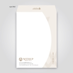 rinriocononさんの女性社長コンサルティング会社のシンプルで誠実感のある角2、窓無し洋0封筒デザイン(ロゴあり)への提案