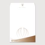 ruoworkさんの女性社長コンサルティング会社のシンプルで誠実感のある角2、窓無し洋0封筒デザイン(ロゴあり)への提案