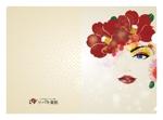 505050さんの椿の花を使ったクリアファイルのデザイン依頼への提案