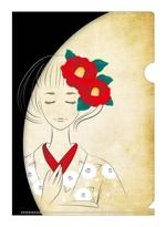 APRILFOOLさんの椿の花を使ったクリアファイルのデザイン依頼への提案