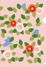 miyo-tさんの椿の花を使ったクリアファイルのデザイン依頼への提案