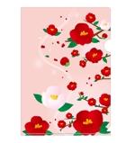 pentomouseさんの椿の花を使ったクリアファイルのデザイン依頼への提案