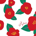 aya_iさんの椿の花を使ったクリアファイルのデザイン依頼への提案