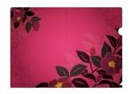 ma2junさんの椿の花を使ったクリアファイルのデザイン依頼への提案
