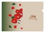 ahabさんの椿の花を使ったクリアファイルのデザイン依頼への提案