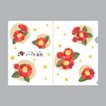 elevenさんの椿の花を使ったクリアファイルのデザイン依頼への提案