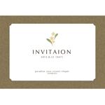 ki-midoriさんの挙式の招待状のデザインへの提案