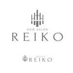 theta1227さんの美容室「HAIR SALON REIKO」のロゴへの提案