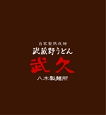 kiku211さんの飲食店「武蔵野うどん 武久」のロゴへの提案