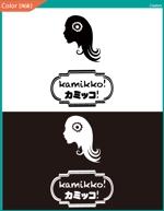 tatatata55さんのヘアアクセサリーWebショップ(kamikko!カミッコ)のロゴ制作をお願いいたします!シンプルな北欧系でへの提案