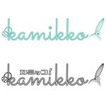 shouji_ntさんのヘアアクセサリーWebショップ(kamikko!カミッコ)のロゴ制作をお願いいたします!シンプルな北欧系でへの提案