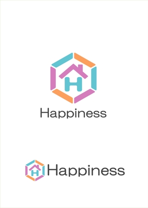 kiku211さんの福祉用具・介護リフォーム専門店「ハピネス」のロゴへの提案