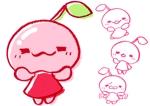 駄菓子さくらんぼもちのイメージキャラクターデザインへの提案