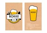 クラフトビールを扱う飲食店の「BOKKE」のショップカード(名刺サイズ)への提案
