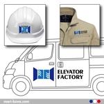 takeclovisさんの会社のロゴマーク、車両や工具等直接ステッカー等貼れるロゴマークへの提案