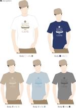 Log_designさんのCaféスタッフのユニフォーム Tシャツデザインへの提案